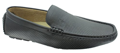Aldo-Rossini-Mens-Leo-1-Vegan-Leather-Perforated-Slip-On-Loafers-Driving-Shoes