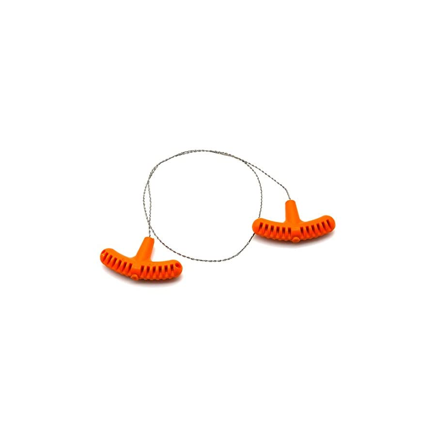 2Pcs Rescue Cable Wire Hunting Fishing Hiking Camping Saw Wire Survival Chain Saw with Orange Handles Piscator Zone Outdoor Equipments
