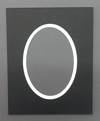 - Pack of 5 8x10 Black & White Double Oval Picture Mats Bevel Cut for 5x7 Pictures