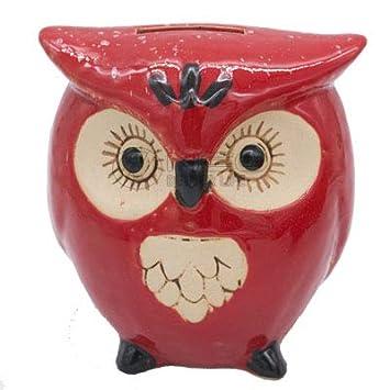 Amazon.com: GTIN – Caja de cerámica con diseño de búhos y ...