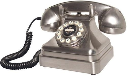 (Crosley CR62-BC Kettle Classic Desk Phone with Push Button Technology, Brushed Chrome)