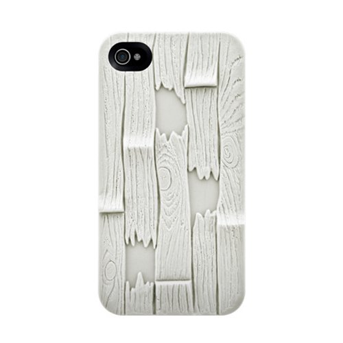 SwitchEasy SW-PLA4S-W Avant-garde Hard Case for iPhone 4 & 4S - 1 Pack - Case - Retail Packaging - Plank - White]()
