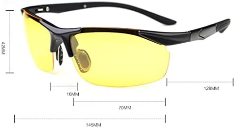 AMZTM Mens Sports Sunglasses Unbreakable TR90 Polarized Driving Glasses