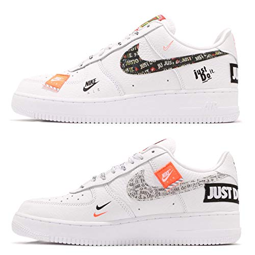 NIKE Homme Orange White JDI Air PRM '07 Fitness black White Multicolore total Chaussures 100 de Force 1 rqrzxw1g