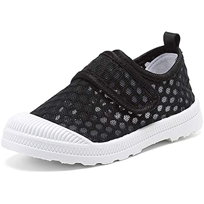 CIOR Boys & Girls' Breathable Mesh Slip-on Sneakers Sandals Water Shoe for Running Pool Beach Toddler/Kids