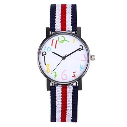 Kids Boys Girls Watches,Nylon Fabric Band Student Age 11-15 7-10 Wristwatches for Teenagers Young Girls Boys