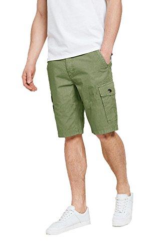 """Threadbare - Pantalón corto - cargo - para hombre verde Size - 38"""" Waist XX-Large"""
