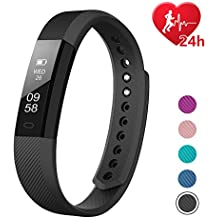 Fitness Tracker HR, Letscom Activity Tracker with Step Counter and Calorie Counter Watch Pedometer, Slim Heart Rate Monitor Watch for Kids Women Men