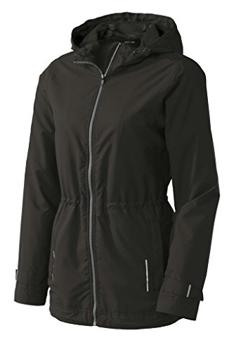 Joe's USA(tm) Ladies Classic Rain Jacket-Black-3XL
