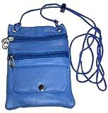 New Genuine Leather Travel Purse General Purpose Shoulder Blue Bag, Bags Central