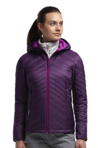 Icebreaker Jacke kapuze Pullover Helix Long Sleeve Hood - Soft shell para mujer granate