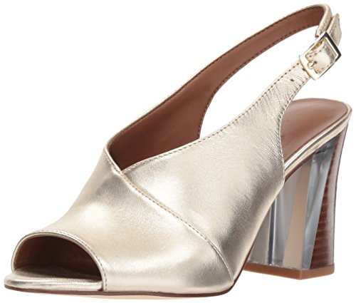Nine West Women's MORENZO Heeled Sandal Light Gold 7.5 M US