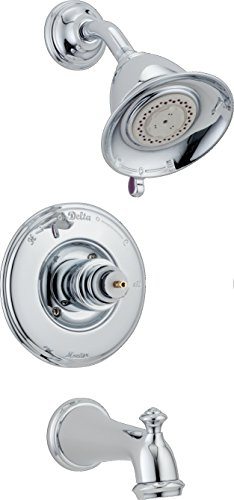 - Delta T14455-LHP Victorian Monitor 14 Series Bathtub & Shower Trim without Handle, Chrome