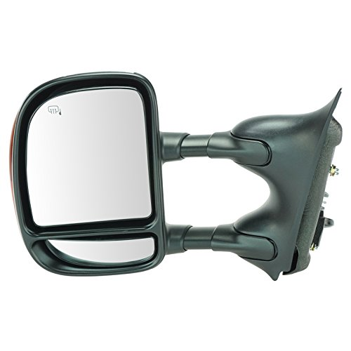 Chrome Towing Power Heated Signal Side View Mirror Driver Left LH for Super - Driver Duty Super Lh Mirror