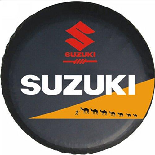 Bobbycool Size L Black 16 Inch New Universal Spare Tire Type Cover Wheel Covers For SUZUKI Vitara Samurai 1990-2011