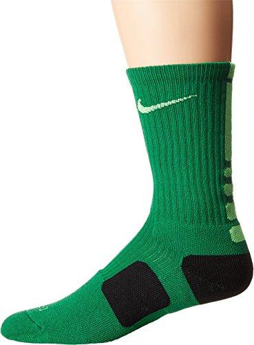 Nike Elite Mens Basketball Crew Socks Large (Size 8-12) Green, Volt, Black