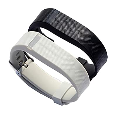bayite Replacement Wrist Band with Watch Band Clasp Buckle and Fastener for Fitbit Flex Pack of 2