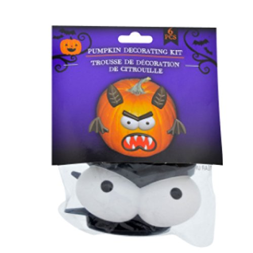 Pumpkin Decorating Craft Kit Plastic Push In No Carving (Monster) (Easy No Mess Halloween Crafts)