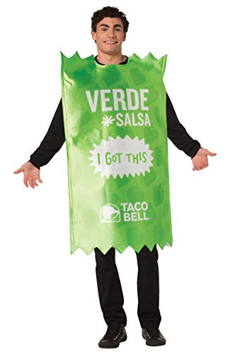 Taco Bell Sauce Packet Verde Costume, Adult