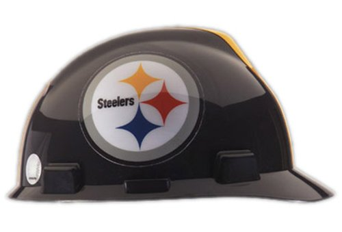 V-Gard Type I Hard Cap With 1-Touch Suspension, Pittsburgh Steelers Logo And Adjustable Strap 1