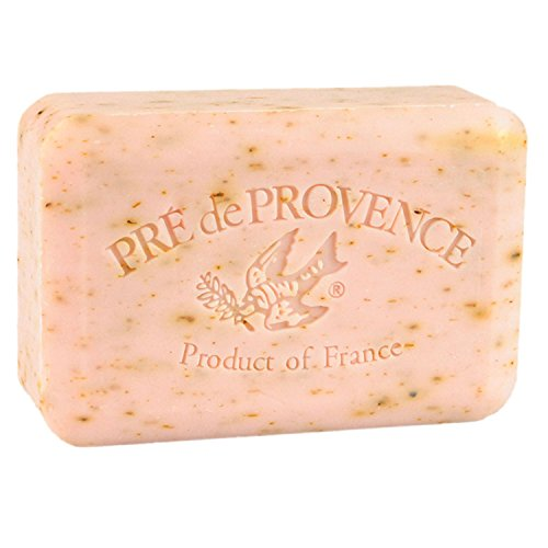 Pre de Provence French Soap Bar with Shea Butter, 250g - Rose Petal