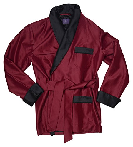 Duke & Digham Men's Smoking Jacket Perry Burgundy