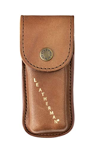 (LEATHERMAN - Heritage Leather Snap Sheath for Multitools, Medium (Fits Wave, Charge, and Skeletool))