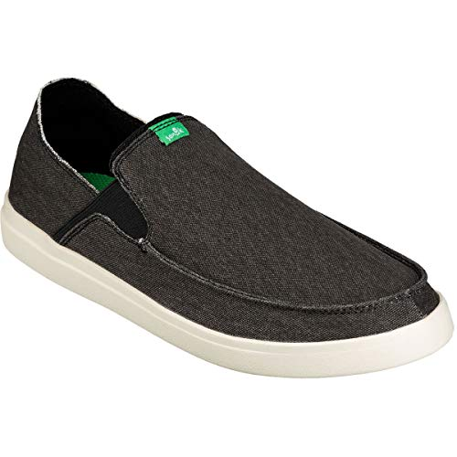 Sanuk Men's Pick Pocket Slip-On Sneaker Shoe, Black/Natural, 09 M US