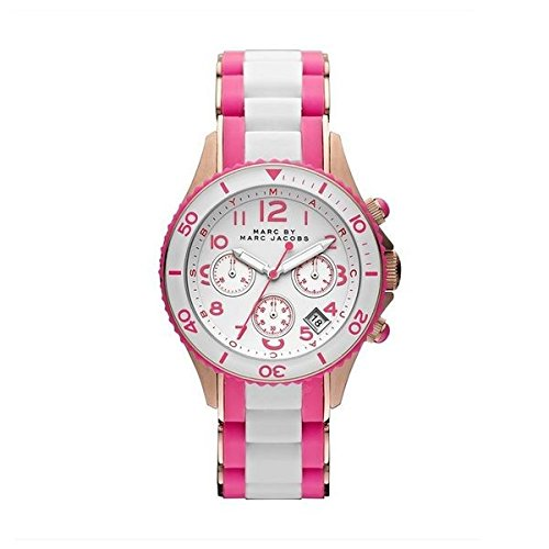 Marc by Marc Jacobs Women's Rock Chrono Watch, Rose Gold/Knockout Pink, One Size