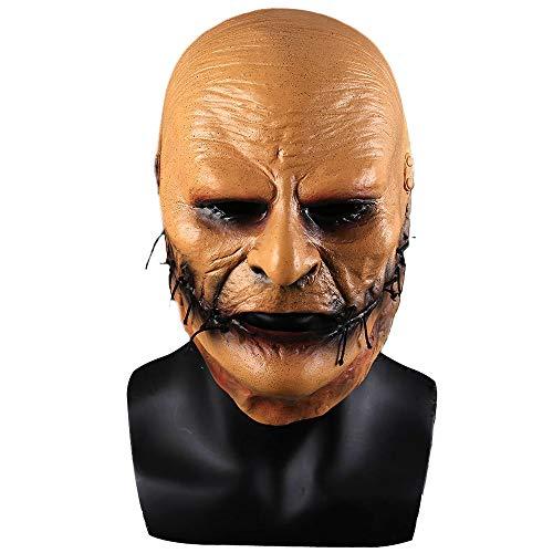 Slipknot Corey Taylor Cosplay Face Mask Yellow Latex Costume Props Adult Unisex Halloween ()