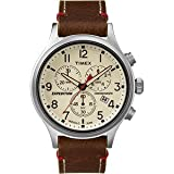 Timex Expedition Scout Chronograph Leather Watch - Brown Dial