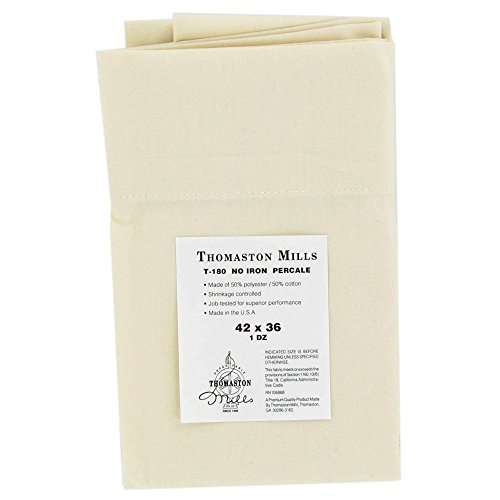 Thomaston Mills Standard Size Pillowcase, Bone, 42x36