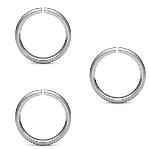 "Price comparison product image Lot of 3pc 316l Surgical Steel Nose Ring,ear Hoop,rings Rook,tragus,daith - 20 Gauge- 5/16"" Length - Sold in a Set of 3 By Eg Gifts"