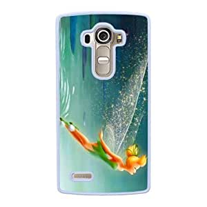 Grouden R Create and Design Phone Case,Tinkerbell Cell Phone Case for LG G4 White + 1*Touch Stylus Pen (Free) GHL-2876880