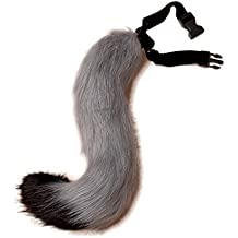 DingAng Teen/Adult Faux Fur Tail For Cosplay Halloween Party
