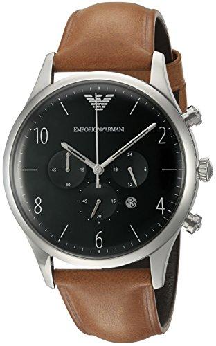 Emporio Armani Men's AR1941 Dress Tan Leather Watch