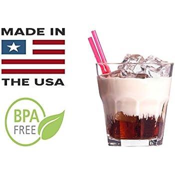 """12,500  piece 5.75/"""" BLACK Plastic Jumbo DRINKING STRAWS Cocktail Margarita Soda"""