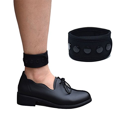 (DDJOY Ankle Strap for Compatible with Fitbit & Garmin, Ankle Band for Compatible with Charge 2/3 Alta/HR Flex/2 Fitbit One or Garmin Vivofit/2/3/4, Ankle Band for Men and Women (Black, Large/X-Large))