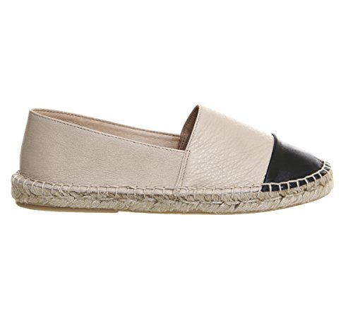 Leather Lucky Office Espadrilles Black Nude Toe Cap tqqrwd5