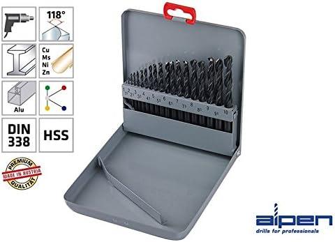 Drill Bit Case Alpen 810311100 Sprint Master Km 1-10X0,5mm 19 Pcs