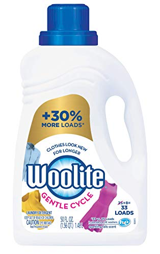 Woolite Gentle Cycle Liquid Laundry Detergent, 33 Loads, Regular & HE Washers, Sparkling Falls Scent