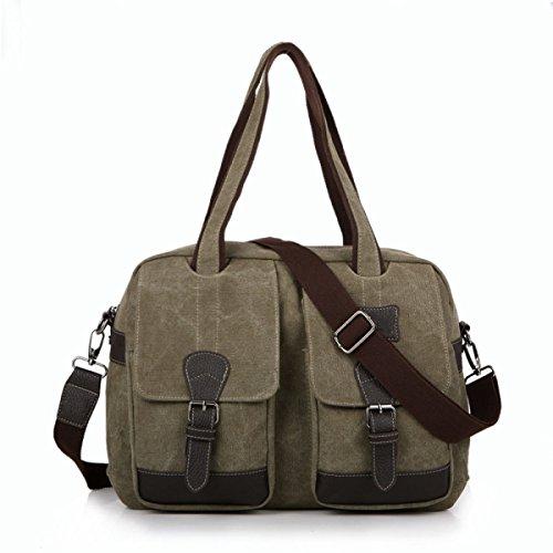 Bolsa De Trabajo De La Lona Bolsa De Mensajero De La Taleguilla Del Hombro School Bookbag Para Hombres Y Mujeres De Brown,C-OneSize
