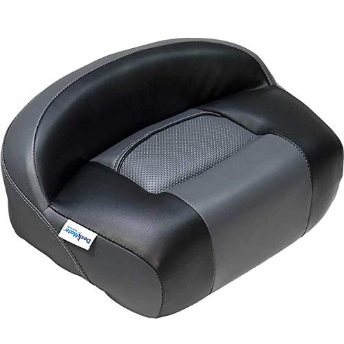 DeckMate Lean Pro Fishing Seat (Charcoal and Black) - Pro Seat Casting