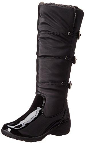 Khombu Women's Abigail KH Cold Weather Boot, Black Patent Combo, 10 M US