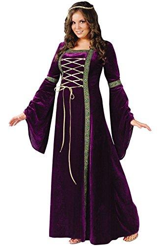 [Fun World Costumes Plus-Size Funworld Deluxe Renaissance Lady, Purple, 16W-24W(Plus Size)] (Halloween Costumes Renaissance)
