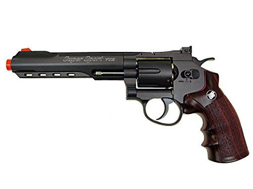 wg model-702b 6 revólver full metal co2 nbb incluido 6 revólver funda-nylon (Airsoft Gun)