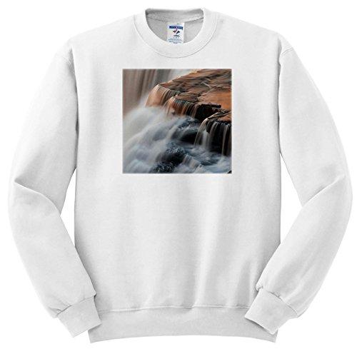 Ss Detail Set (Danita Delimont - Waterfalls - Canada, Ontario. Detail Of Sunset Reflections On Kakabeka Falls. - Sweatshirts - Youth Sweatshirt Small(6-8) (SS_257522_10))