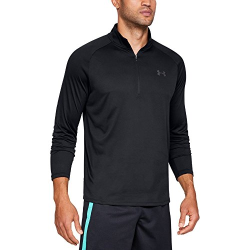 - Under Armour mens Tech 2.0 1/2 Zip-Up, Black (001)/Charcoal, Small