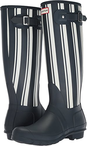 womens hunter rain boots blue - 8