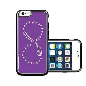 RCGrafix Brand Hakunamatata Dark Blue & Grey Stripes Black iPhone 6 Case - Fits NEW Apple iPhone 6